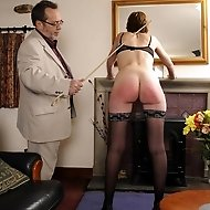 Hand and bottom caned