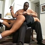 Ebony girl brutally caned and humiliated with an enema on the teacher's desk