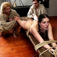 Painful punishments for young disobedient girls