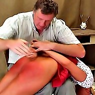White euro slut gets a spanked by a stiff hand