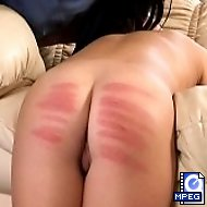 Young cutie brutally caned by headgirl