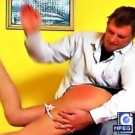 Vika knows  what kind of spanking punishment awaits her at home